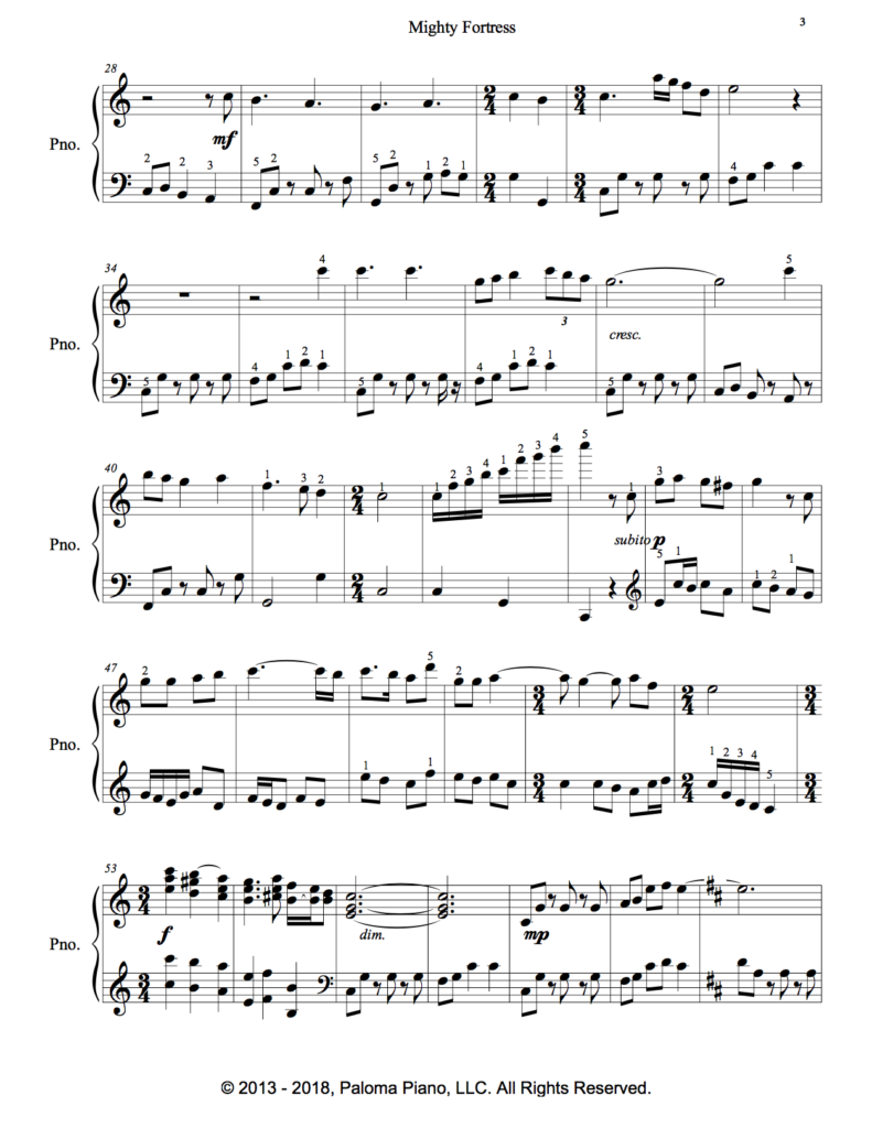 Paloma Piano - Mighty Fortress - Page 2