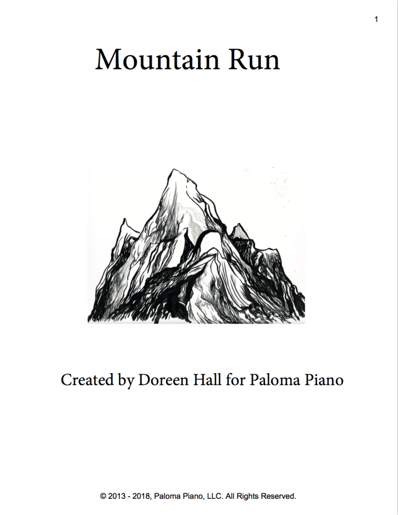 Paloma Piano - Mountain Run - Page 1
