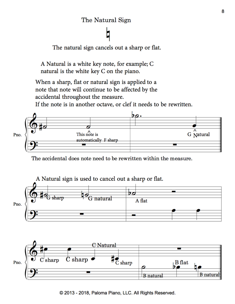 Paloma Piano - Music Theory - Accidentals - Page 8