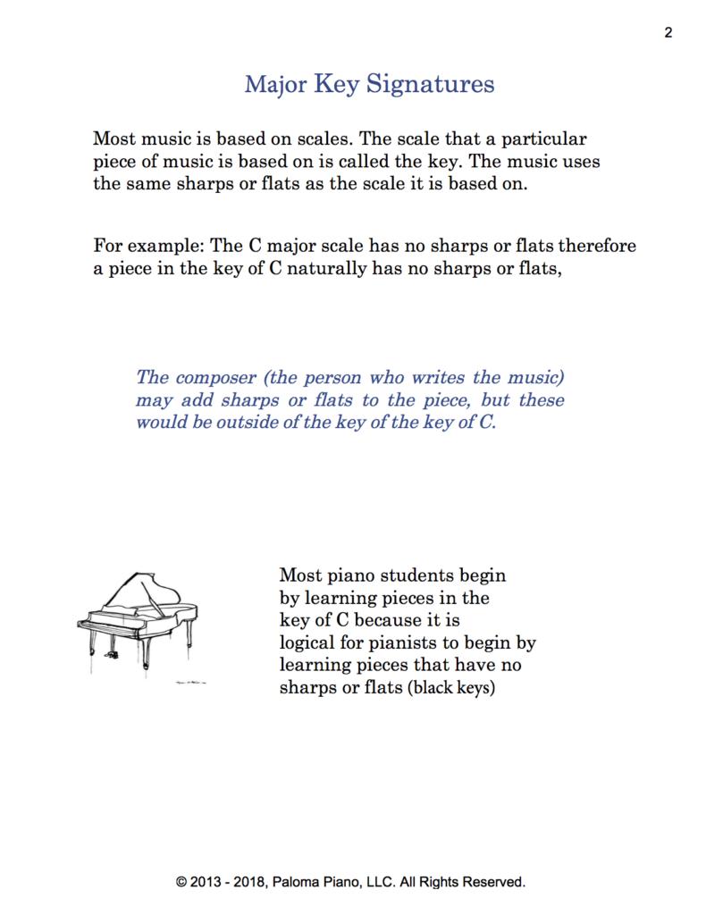 Paloma Piano - Music Theory - Major Key Signatures - Page 2