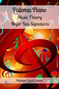 Paloma Piano - Music Theory - Major Key Signatures - Cover