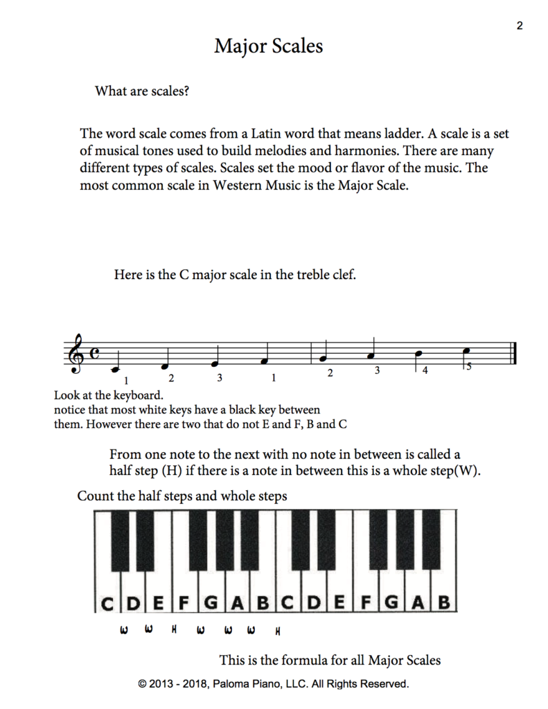 Paloma Piano - Music Theory - Major Scales - Page 2