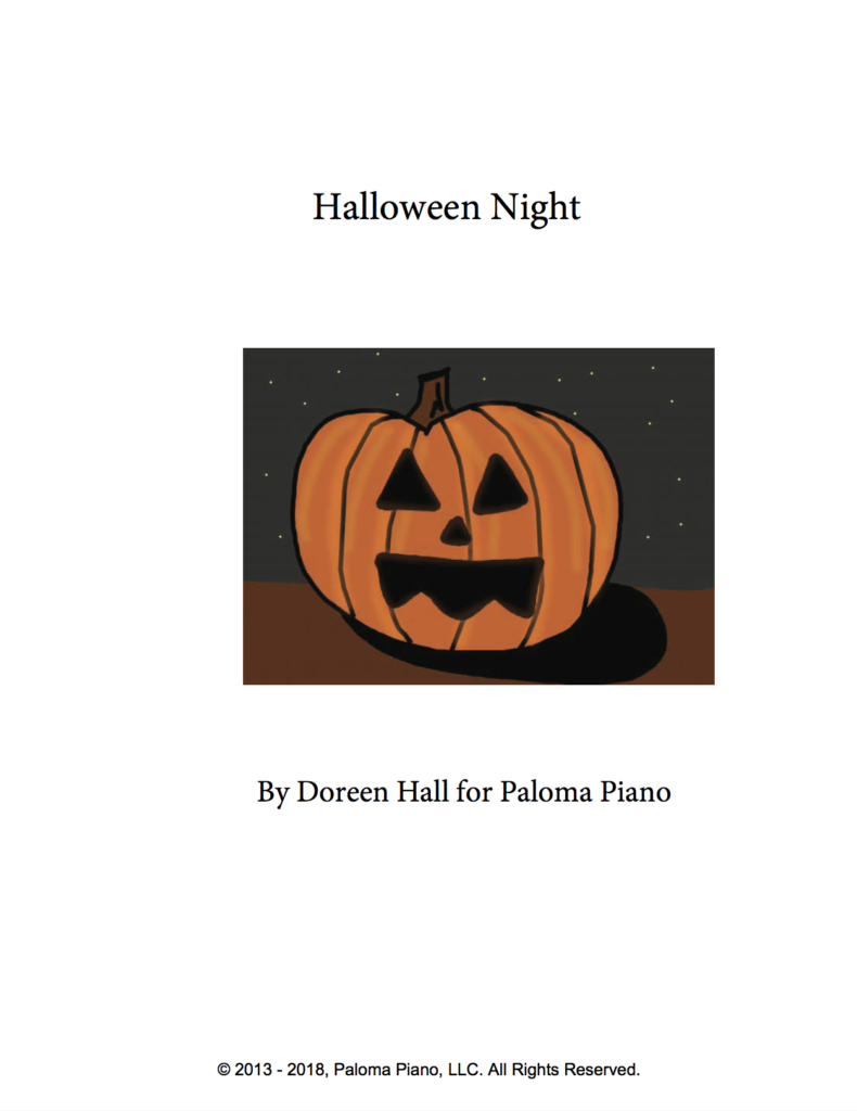 Paloma Piano - Halloween Night - Page 1