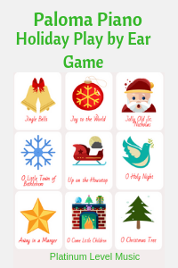 Paloma Piano - Play By Ear Holiday Game Cards - Cover