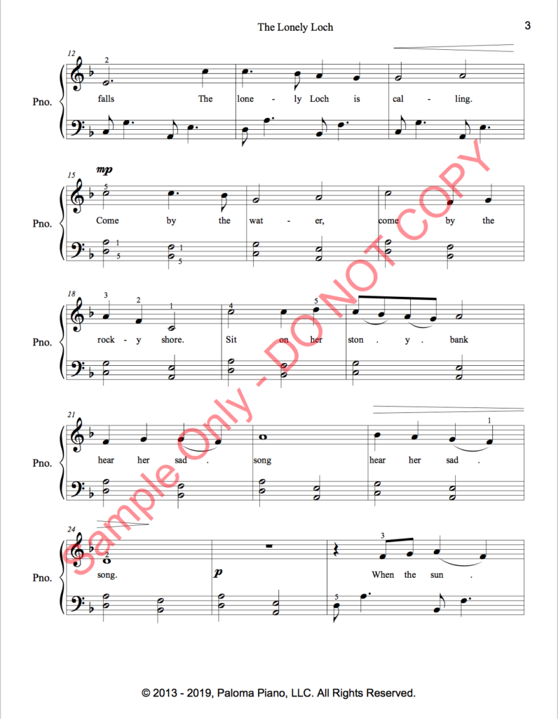 Paloma Piano - The Lonely Loch - Page 3