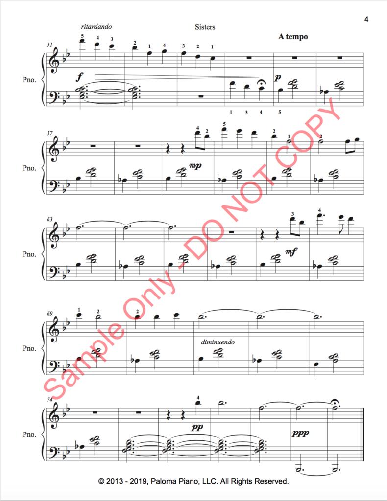 Paloma Piano - Sisters - Page 4