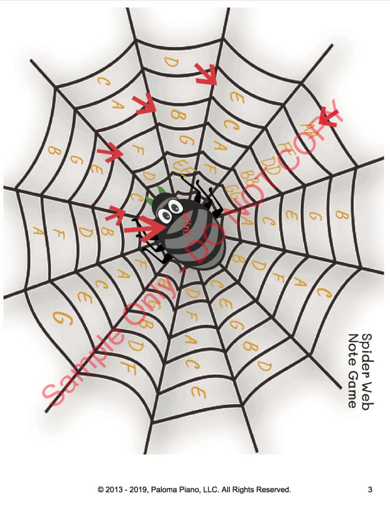 Paloma Piano - Spiderweb Note Game - Page 3