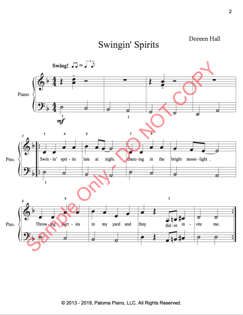 Paloma Piano - Swinging Spirits - Page 2