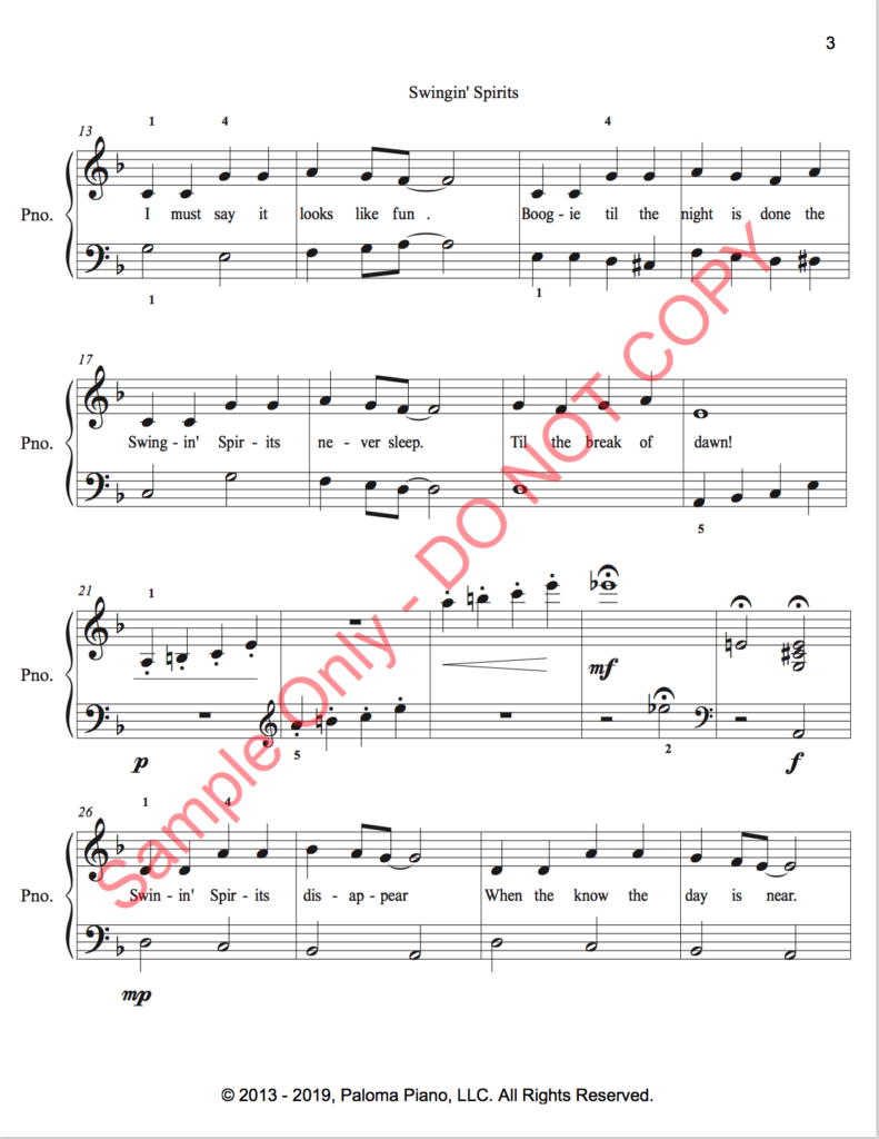 Paloma Piano - Swinging Spirits - Page 3