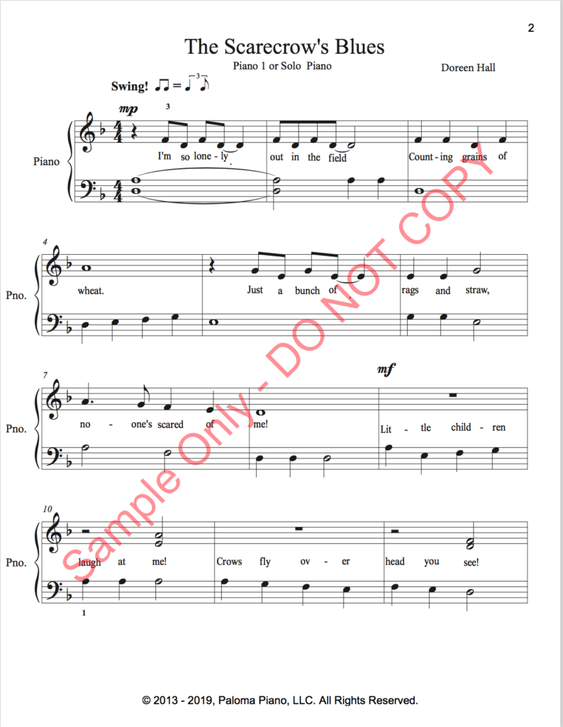 Paloma Piano - The Scarecrow's Blues - Page 1