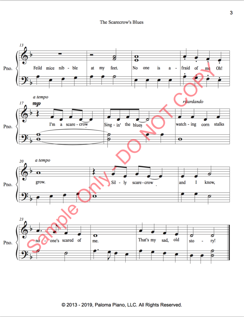 Paloma Piano - The Scarecrow's Blues - Page 2