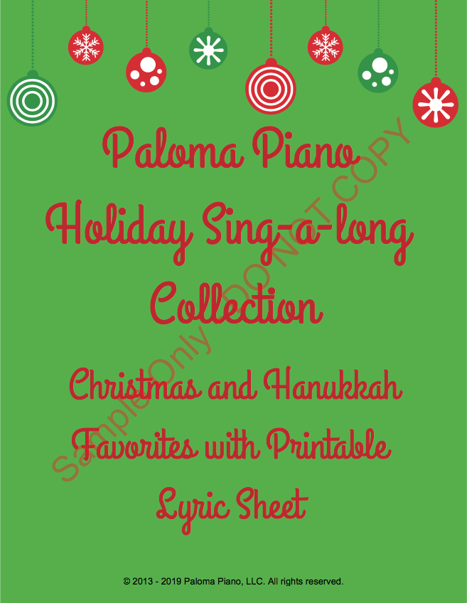 Paloma Piano - Holiday Sing-A-Long