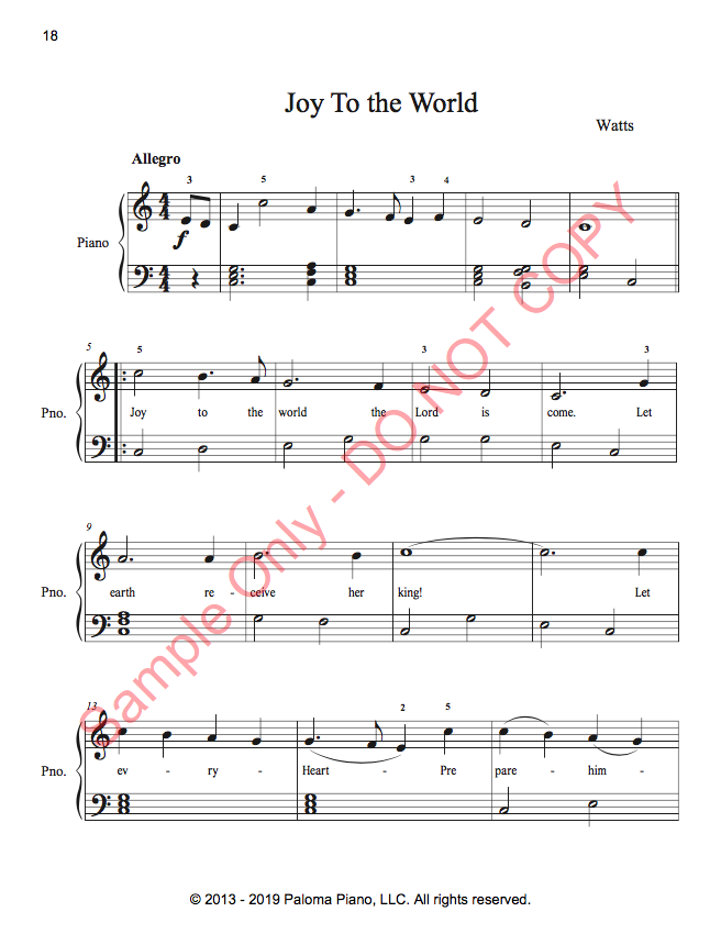 Paloma Piano - Holiday Sing-A-Long 18