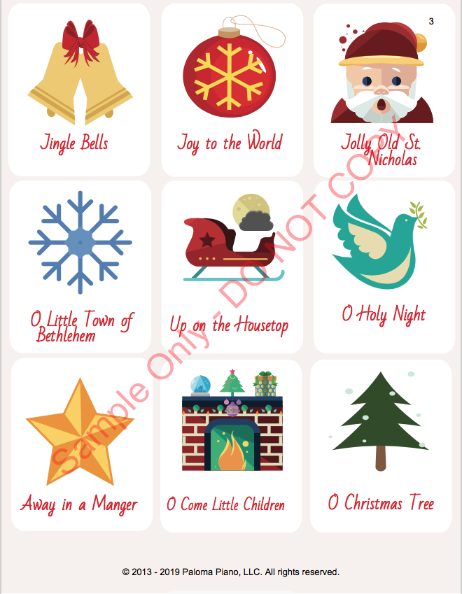 Paloma Piano - Holiday Game Package - Page 2