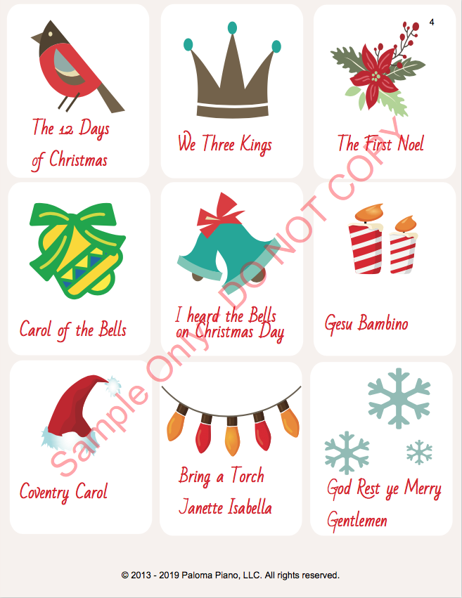 Paloma Piano - Holiday Game Package - Page 3