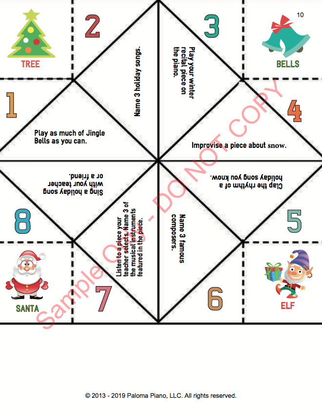 Paloma Piano - Holiday Game Package - Page 5