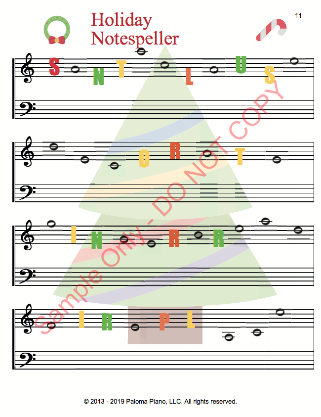 Paloma Piano - Holiday Game Package - Page 6