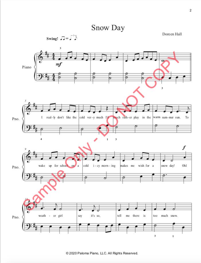 Paloma Piano - Snow Day - Page 2