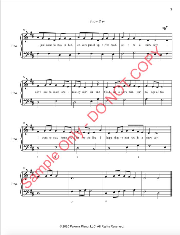 Paloma Piano - Snow Day - Page 3