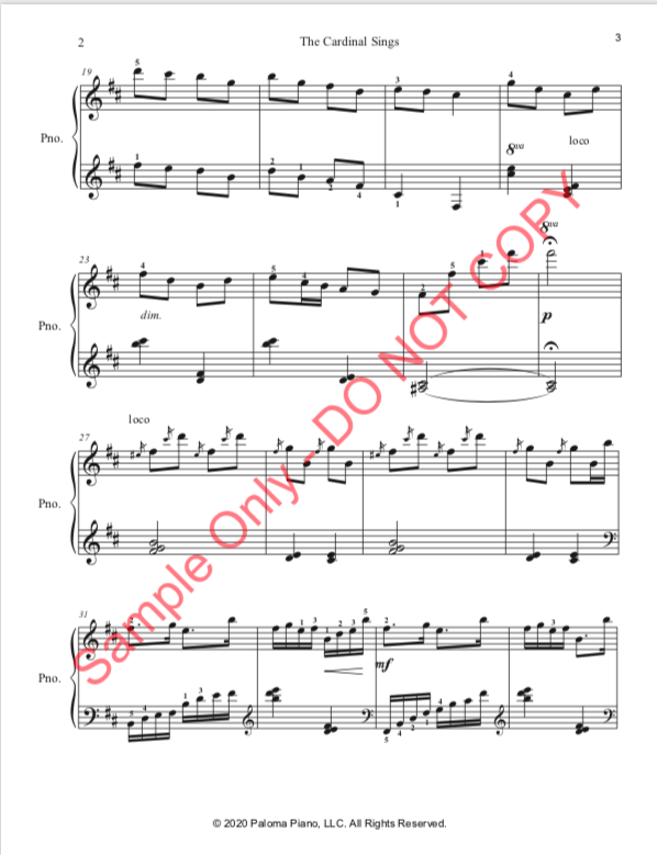 Paloma Piano - The Cardinal Sings - Page 3