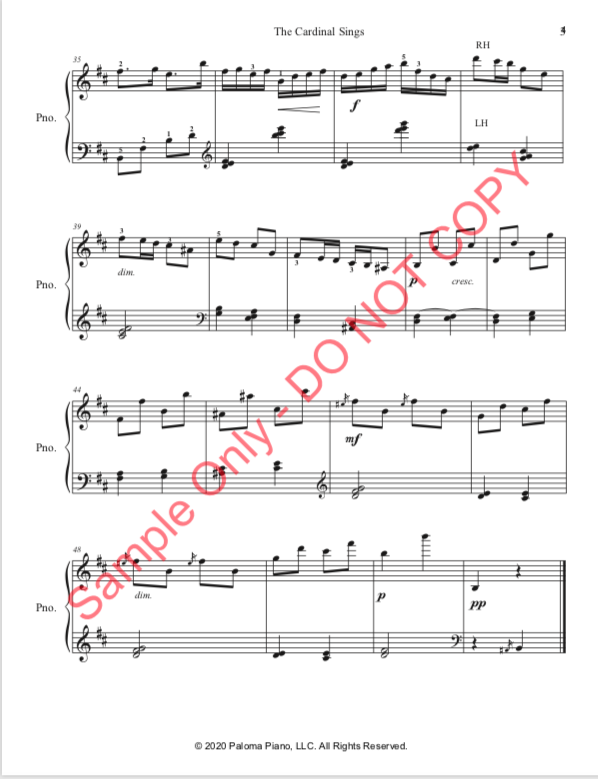 Paloma Piano - The Cardinal Sings - Page 4