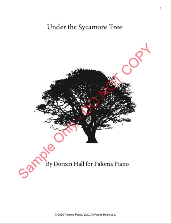 Paloma Piano - Under the Sycamore Tree - Page 1