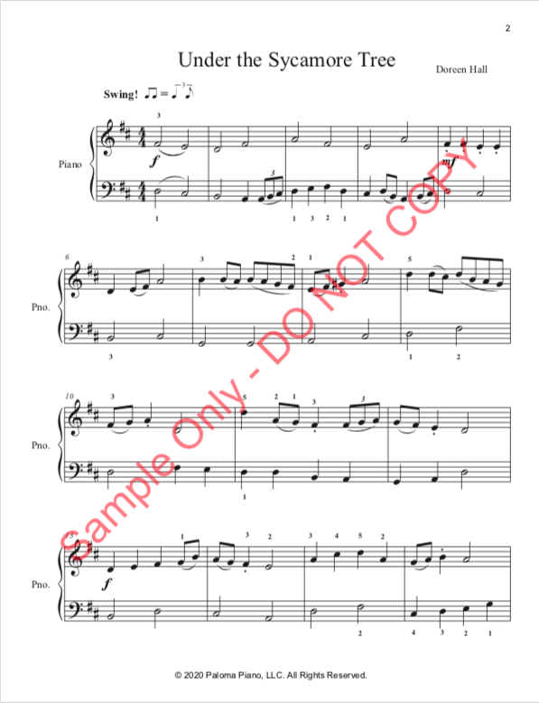 Paloma Piano - Under the Sycamore Tree - Page 2