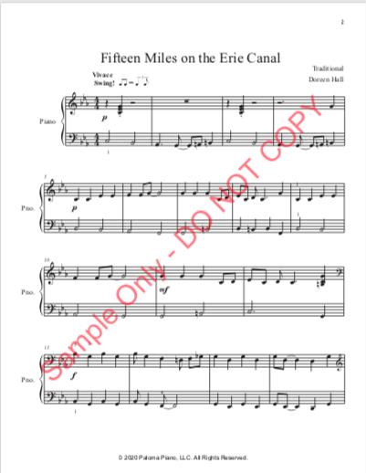 Paloma Piano - Fifteen Miles - Page 1