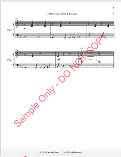 Paloma Piano - Fifteen Miles - Page 3