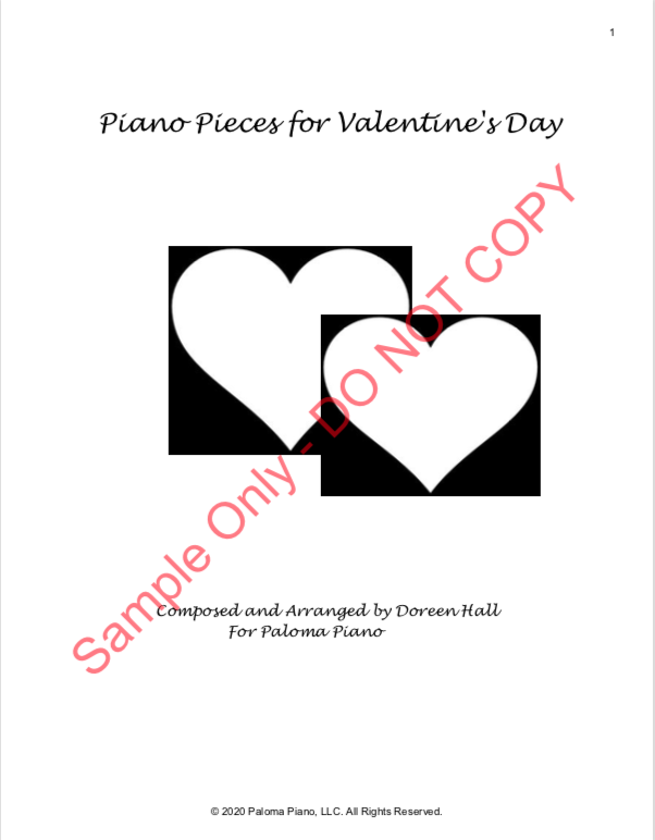 Paloma Piano - Valentine's Day Collection - Page 1