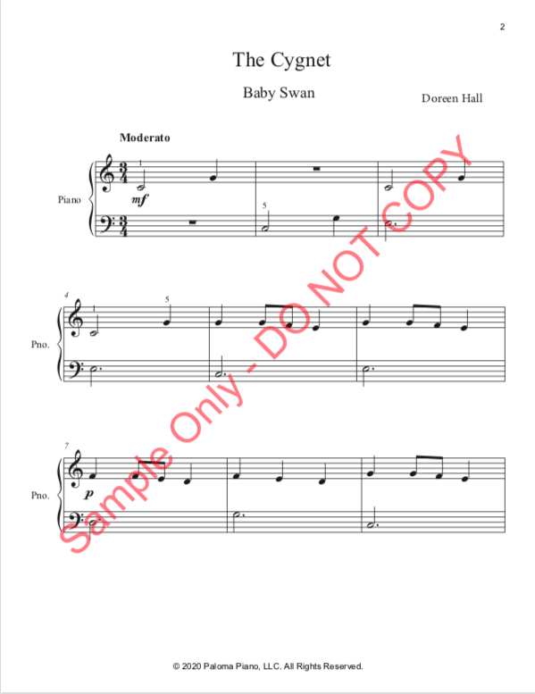 Paloma PIano - Baby Animals Spring - The Cignet - Page 2
