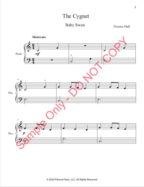 Paloma PIano - Baby Animals Spring - The Cignet - Page 2