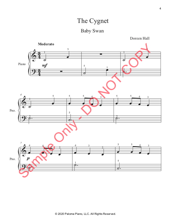 Paloma PIano - Baby Animals Spring - The Cignet - Page 4