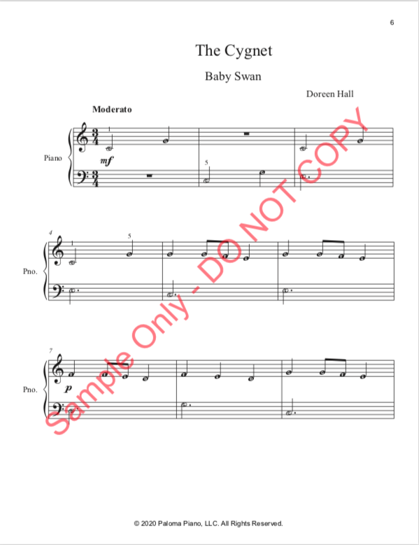 Paloma PIano - Baby Animals Spring - The Cignet - Page 6