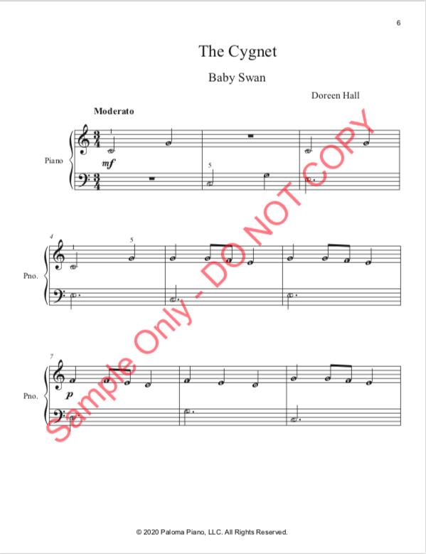 Paloma PIano - Baby Animals Spring - The Cignet - Page 6