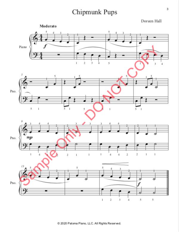 Paloma Piano - Spring Baby Animals - Chipmunk - Page 3