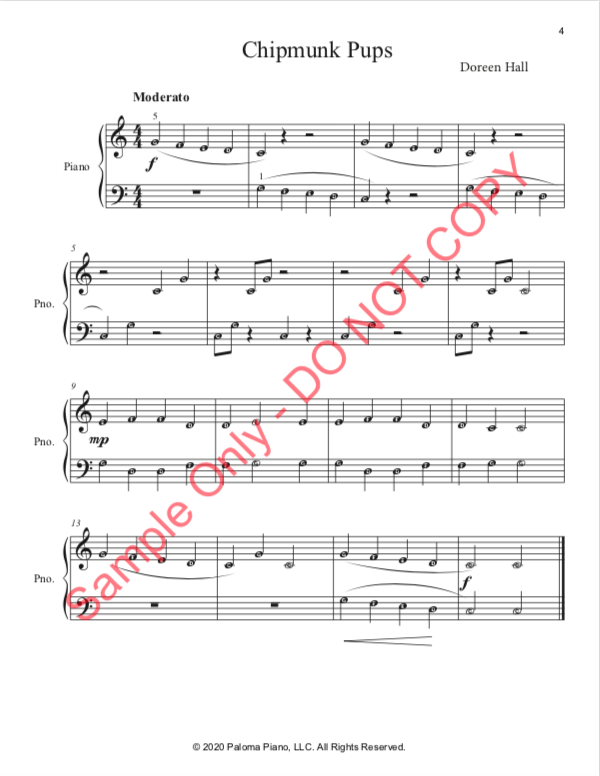 Paloma Piano - Spring Baby Animals - Chipmunk - Page 4