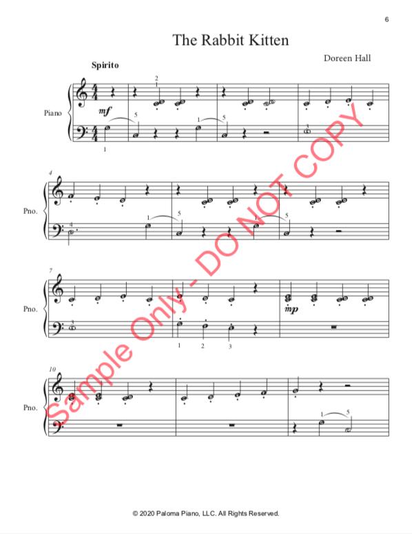 Paloma Piano - Baby Animals Spring - Rabbit - Page 6