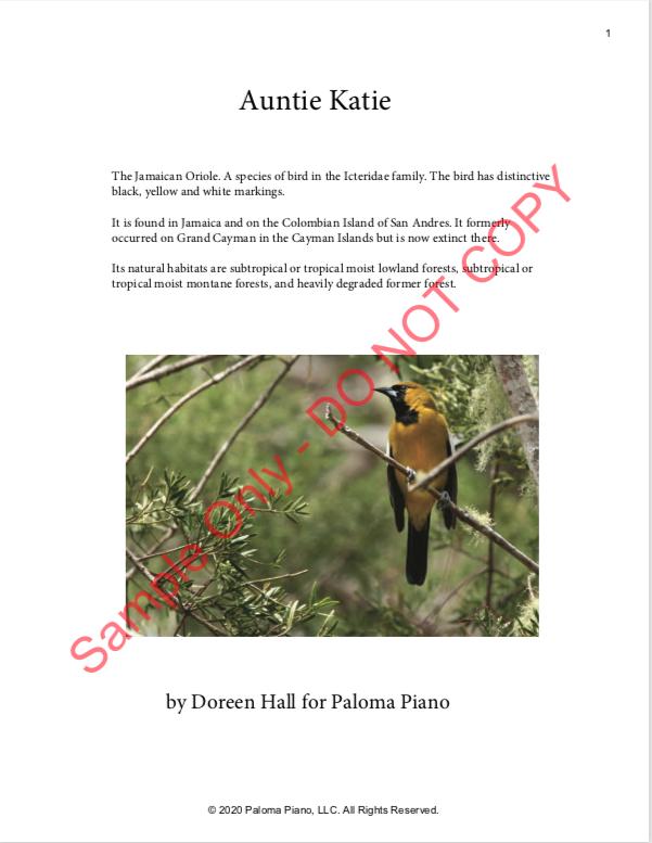 Paloma Piano - Aunty Katie - Page 1