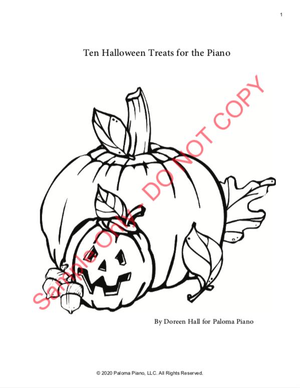 Paloma Piano - Halloween Treats - Page 1