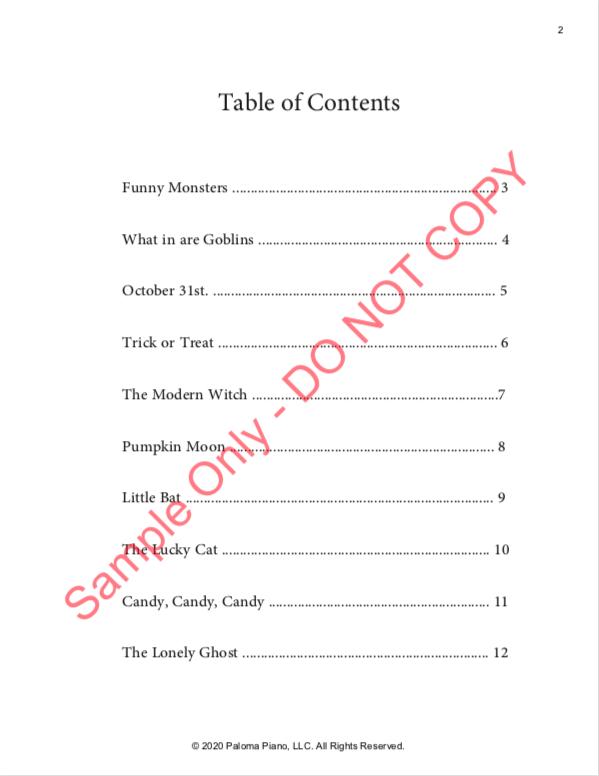 Paloma Piano - Halloween Treats - Page 2