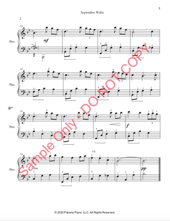 Paloma Piano - September Waltz - Page 3