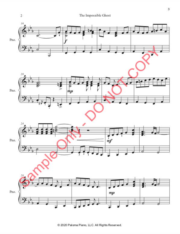 Paloma Piano - The Impossible Ghost - Page 3