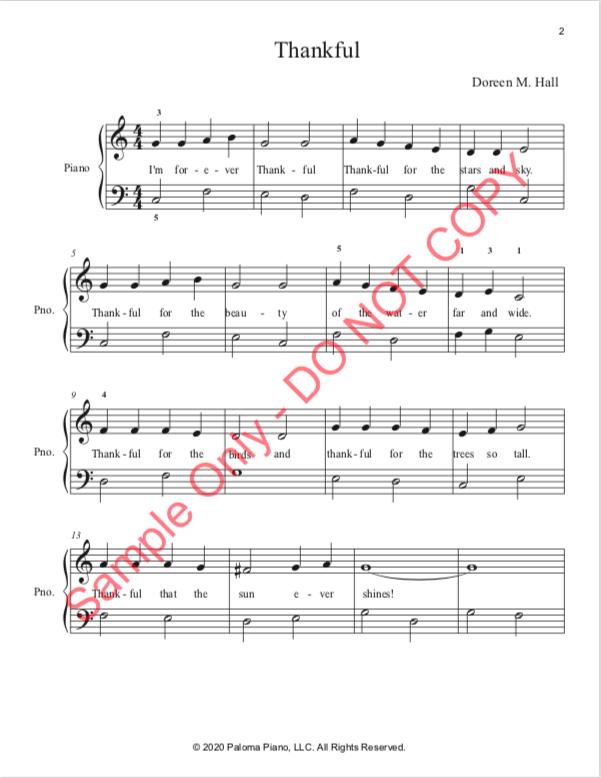 Paloma Piano - Thankful - Page 1