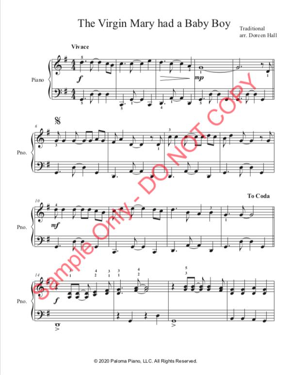 Paloma Piano - The Virgin Mary - Page 1