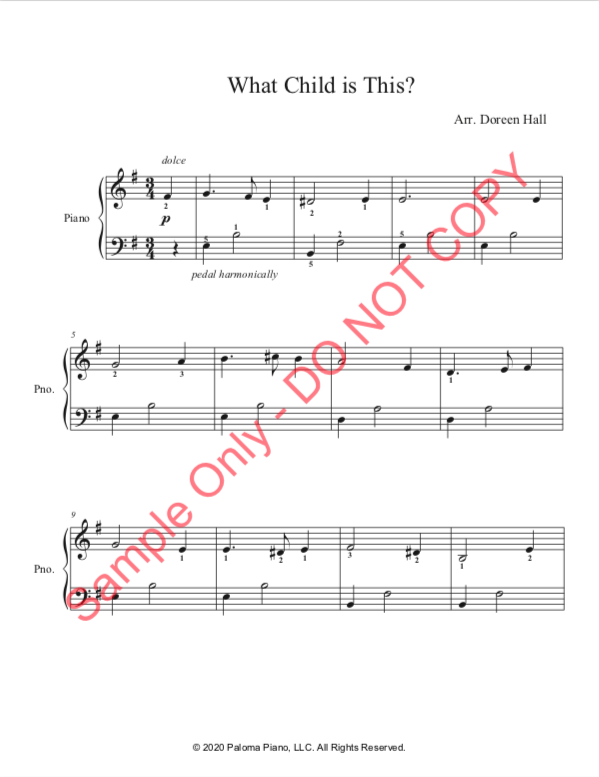 Paloma Piano - What Child Is This - Page 1