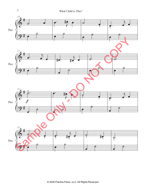 Paloma Piano - What Child Is This - Page 2