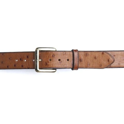 david espinoza ostrich leather belt