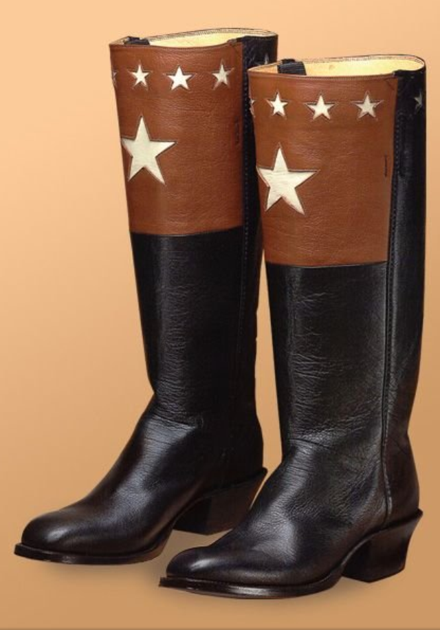 star inlay boot