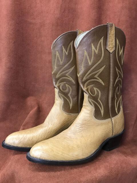 Partial Quill Ostrich Cowboy Boots